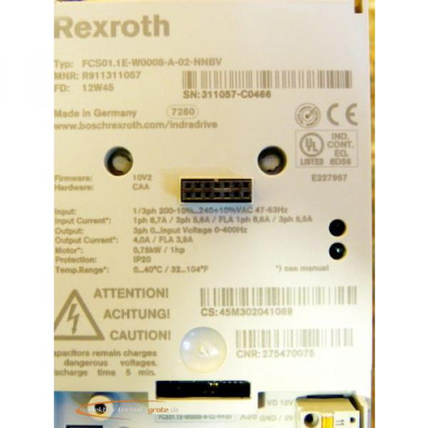 Rexroth Australia Japan FCS01.1E-W0008-A-02-NNBV IndraDrive Frequenzumrichter   >ungebraucht!< #4 image