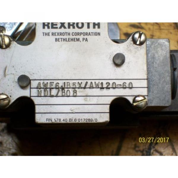 REXROTH VALVE 4WE6 4WE6JB5X/AW120-60 with REXROTH 120V 46VA , WU35-0-A #2 image
