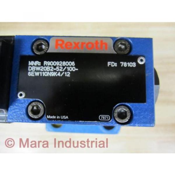 Rexroth Bosch R900928006 Valve DBW20B2-52/100-6EW110N9K4/12 - origin No Box #4 image