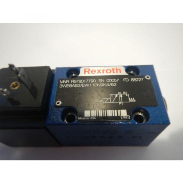 Rexroth 3WE6A62/EW110N9K4/G2 Hydraulic Directional Valve #2 image