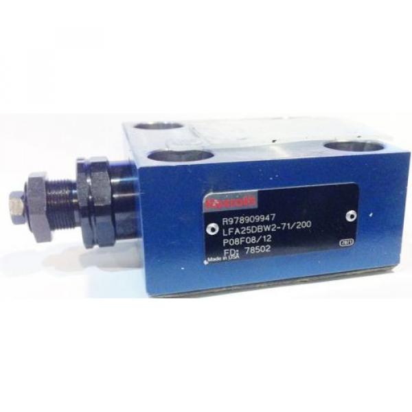 Bosch Rexroth R978909947 LFA25DBW2-71/200 Control Cover Hydraulic Valve #1 image